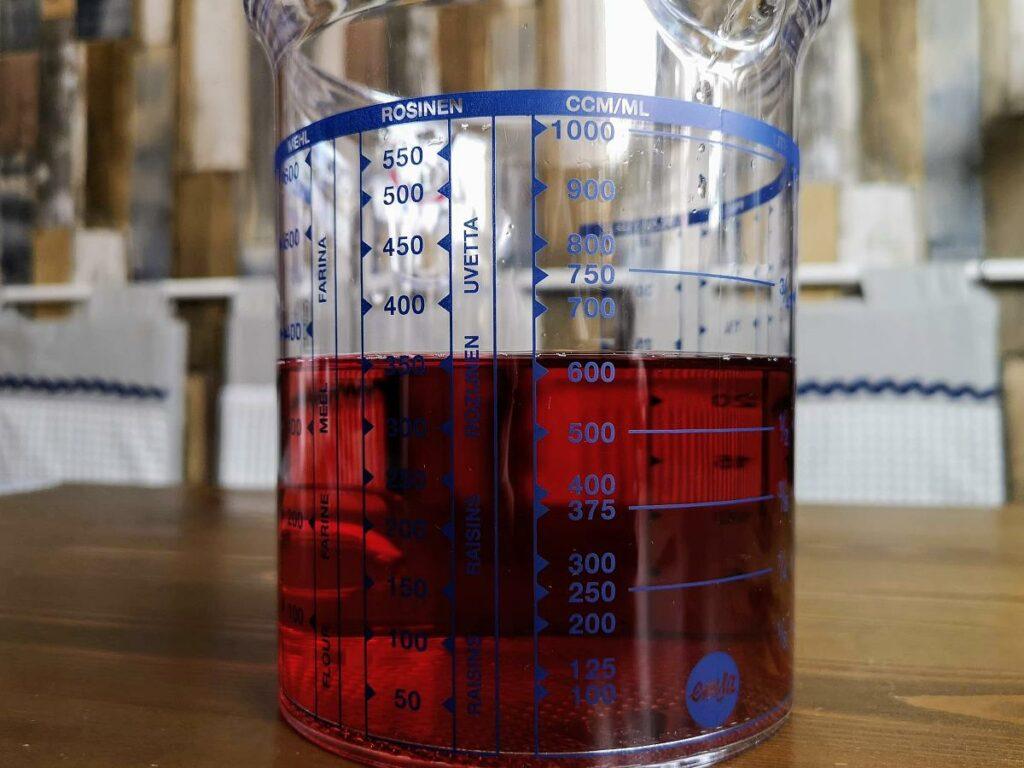 625 ml in einem Messbecher